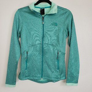 The North Face Agave Teal Full Zip Fleece Jacket S